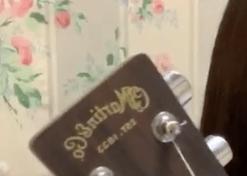 幾田りらが使用してるギターの種類やメーカーがわかる画像