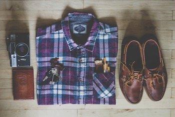 平置きの服